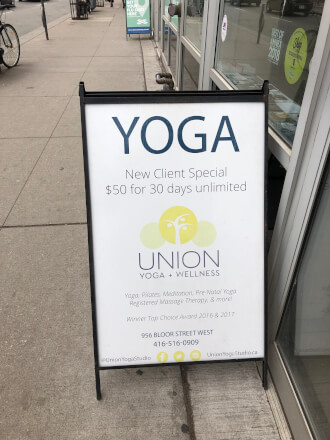 【トロント ヨガ巡り】冷え性さんにオススメ Union Yoga+WellnessでWarm Yogaに参加